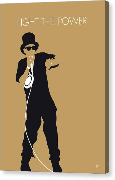 Hip Hop Canvas Print - No180 My Public Enemy Minimal Music Poster by Chungkong Art