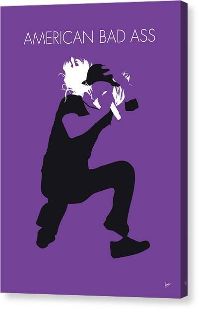 Metallica Canvas Print - No181 My Kid Rock Minimal Music Poster by Chungkong Art