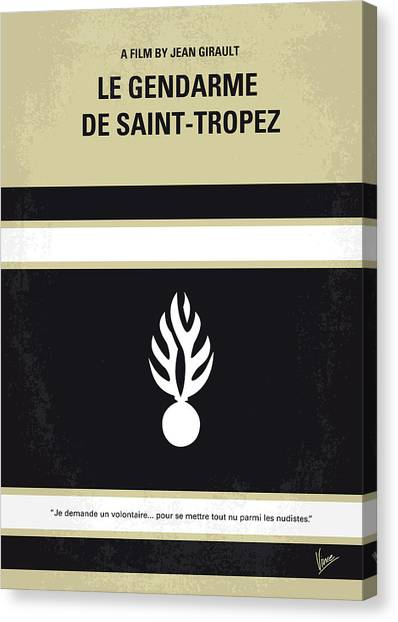 Saints Canvas Print - No186 My Le Gendarme De Saint-tropez Minimal Movie Poster by Chungkong Art