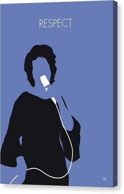 Rhythm And Blues Canvas Print - No188 My Aretha Franklin Minimal Music Poster by Chungkong Art