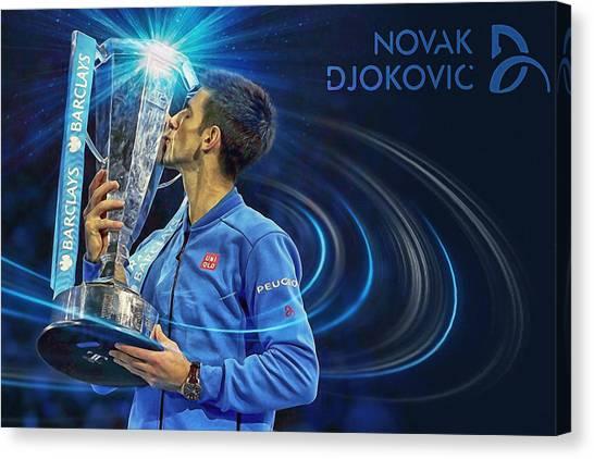 Novak Djokovic Canvas Print - No1e  -  Novak Djokovic by Nenad Cerovic