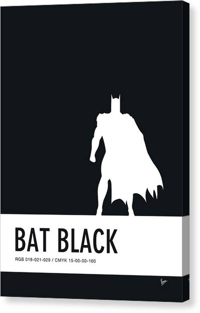 Spiders Canvas Print - No20 My Minimal Color Code Poster Batman by Chungkong Art