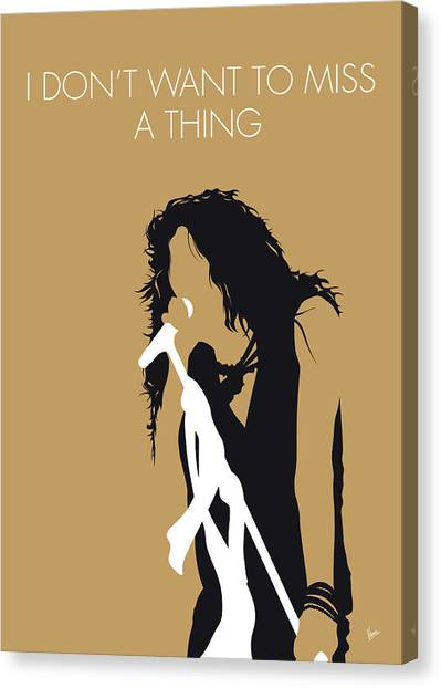 Crazy Canvas Print - No200 My Aerosmith Minimal Music Poster by Chungkong Art