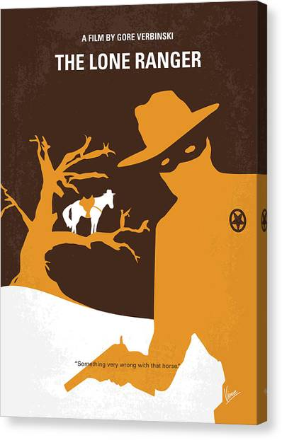 Johnny Depp Canvas Print - No202 My The Lone Ranger Minimal Movie Poster by Chungkong Art