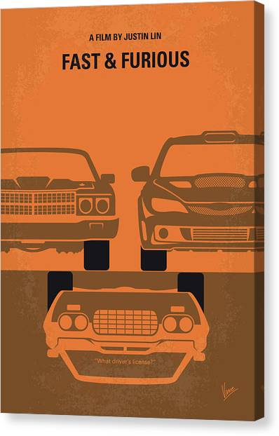 Chevelle Canvas Print - No207-4 My Fast And Furious Minimal Movie Poster by Chungkong Art