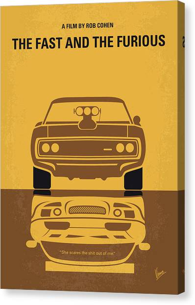 Muscle Cars Canvas Print - No207 My The Fast And The Furious Minimal Movie Poster by Chungkong Art