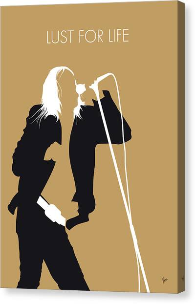 Trainspotting Canvas Print - No210 My Iggy Pop Minimal Music Poster by Chungkong Art