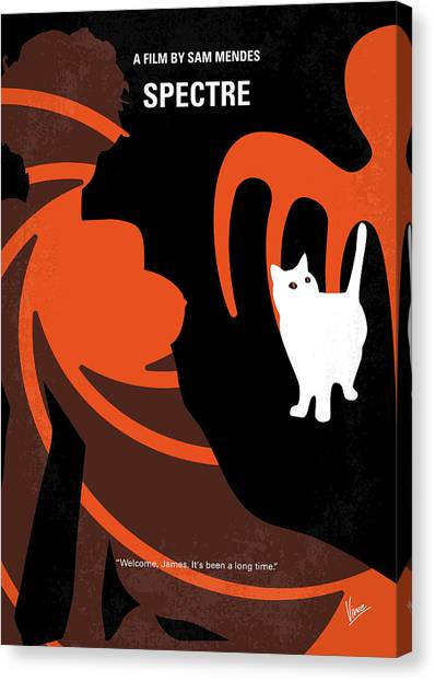 Mexican Canvas Print - No277-007-2 My Spectre Minimal Movie Poster by Chungkong Art