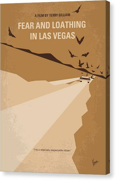 Johnny Depp Canvas Print - No293 My Fear And Loathing Las Vegas Minimal Movie Poster by Chungkong Art