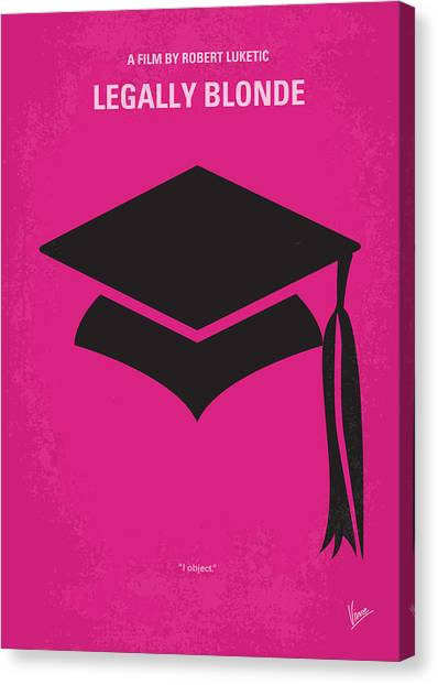 Law Canvas Print - No301 My Legally Blonde Minimal Movie Poster by Chungkong Art