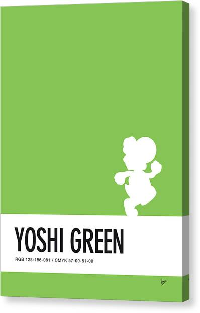 Super Mario Canvas Print - No36 My Minimal Color Code Poster Yoshi by Chungkong Art