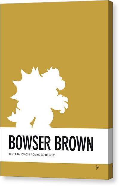 Super Mario Canvas Print - No38 My Minimal Color Code Poster Bowser by Chungkong Art