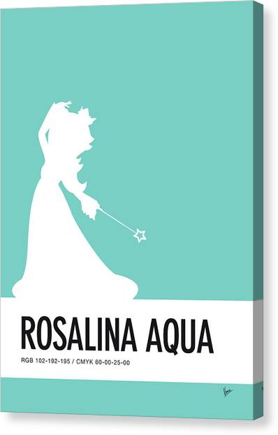 Super Mario Canvas Print - No39 My Minimal Color Code Poster Rosalina by Chungkong Art