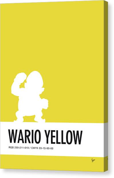 Arcade Games Canvas Print - No43 My Minimal Color Code Poster Wario by Chungkong Art