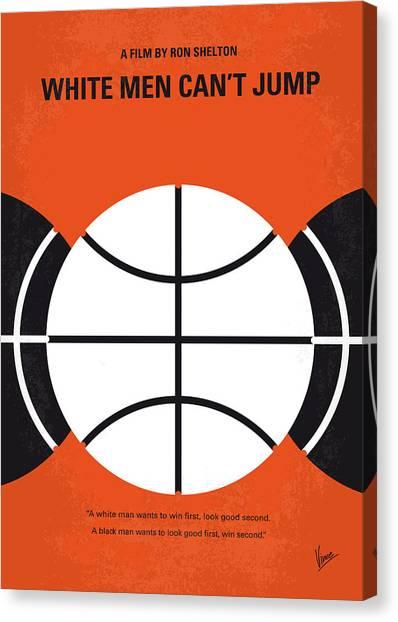 Basketball Canvas Print - No436 My White Men Cant Jump Minimal Movie Poster by Chungkong Art