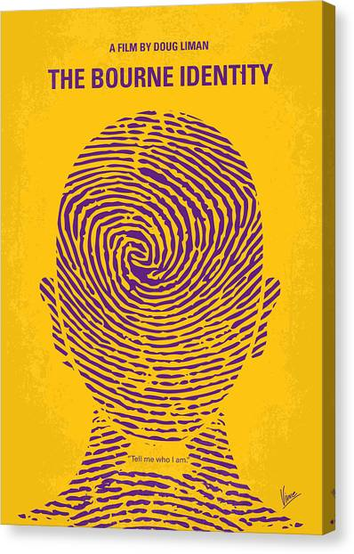 Swiss Canvas Print - No439 My The Bourne Identity Minimal Movie Poster by Chungkong Art