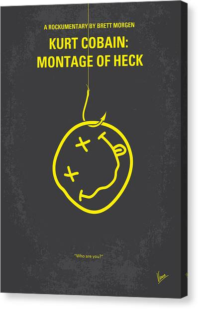 Nirvana Canvas Print - No448 My Montage Of Heck Minimal Movie Poster by Chungkong Art
