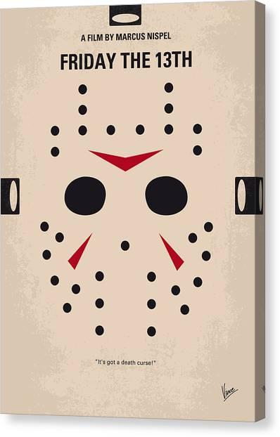 Mask Canvas Print - No449 My Friday The 13th Minimal Movie Poster by Chungkong Art