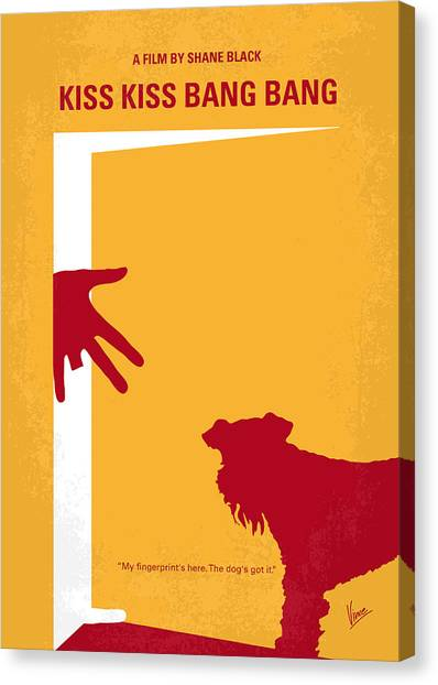 Kiss Canvas Print - No452 My Kiss Kiss Bang Bang Minimal Movie Poster by Chungkong Art