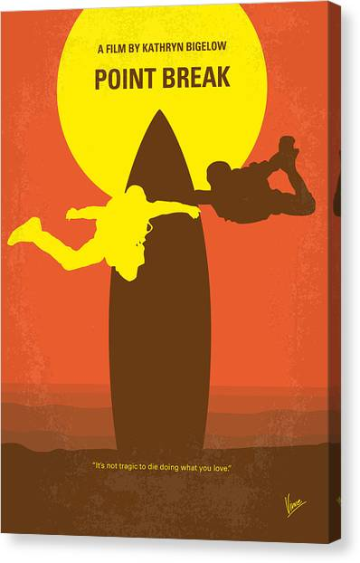 Keanu Reeves Canvas Print - No455 My Point Break Minimal Movie Poster by Chungkong Art