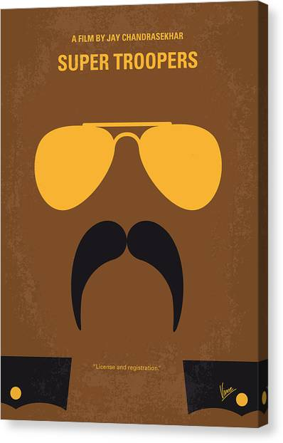 Vermont Canvas Print - No459 My Super Troopers Minimal Movie Poster by Chungkong Art