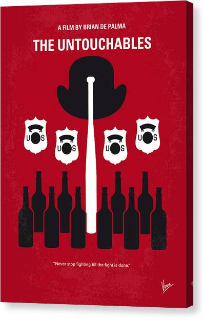 Taxes Canvas Print - No463 My The Untouchables Minimal Movie Poster by Chungkong Art