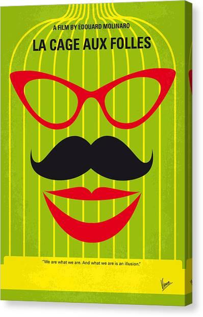 Robin Canvas Print - No473 My La Cage Aux Folles Minimal Movie Poster by Chungkong Art