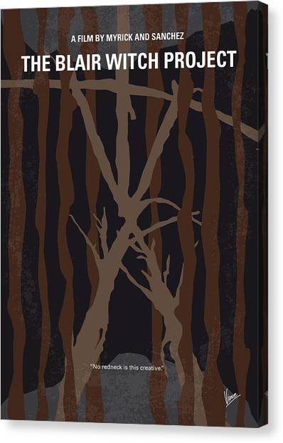 Witches Canvas Print - No476 My The Blair Witch Project Minimal Movie Poster by Chungkong Art