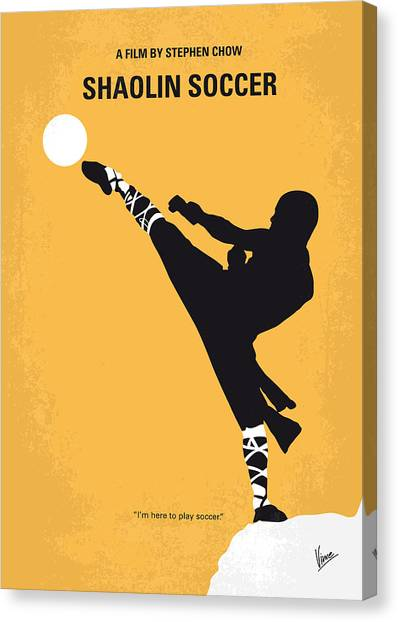 Steeler Canvas Print - No480 My Shaolin Soccer Minimal Movie Poster by Chungkong Art