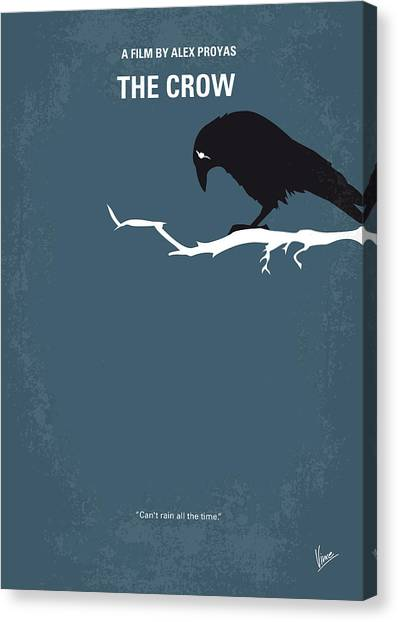Crows Canvas Print - No488 My The Crow Minimal Movie Poster by Chungkong Art