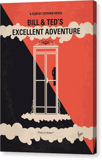 Brains Canvas Print - No490 My Bill And Teds Excellent Adventure Minimal Movie Poster by Chungkong Art