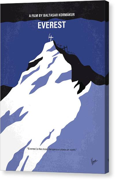 Climbing Canvas Print - No492 My Everest Minimal Movie Poster by Chungkong Art