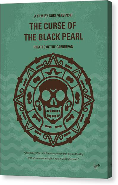 Flag Canvas Print - No494-1 My Pirates Of The Caribbean I Minimal Movie Poster by Chungkong Art