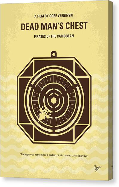 Chest Canvas Print - No494-2 My Pirates Of The Caribbean II Minimal Movie Poster by Chungkong Art