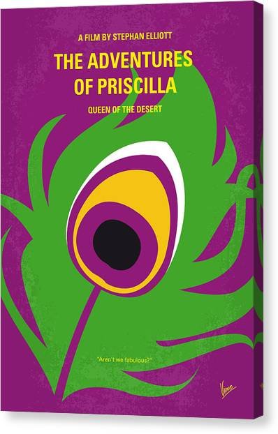 Queens Canvas Print - No498 My Priscilla Queen Of The Desert Minimal Movie Poster by Chungkong Art