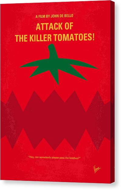 Tomato Canvas Print - No499 My Attack Of The Killer Tomatoes Minimal Movie Poster by Chungkong Art