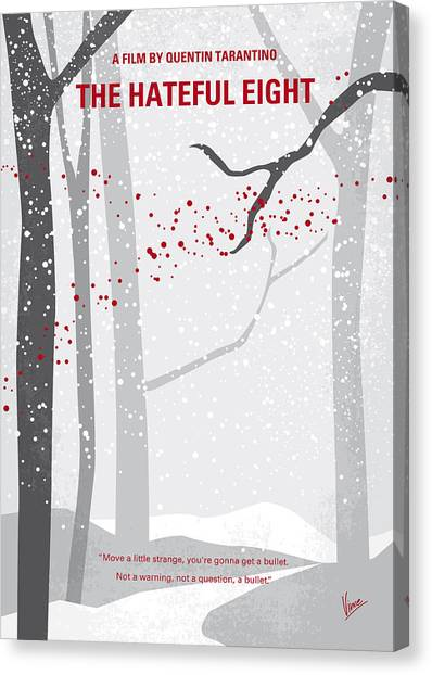 Wyoming Canvas Print - No502 My Hateful Eight Minimal Movie Poster by Chungkong Art