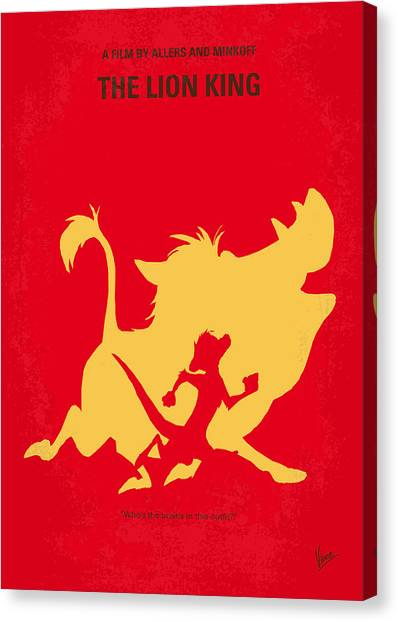 Lions Canvas Print - No512 My The Lion King Minimal Movie Poster by Chungkong Art