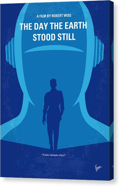Ufos Canvas Print - No514 My The Day The Earth Stood Still Minimal Movie Poster by Chungkong Art