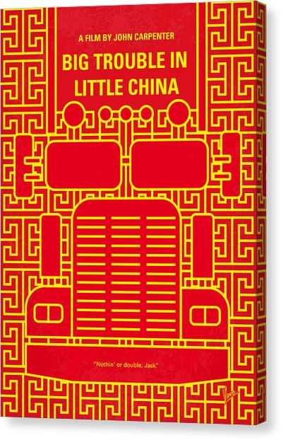 Chin Canvas Print - No515 My Big Trouble In Little China Minimal Movie Poster by Chungkong Art