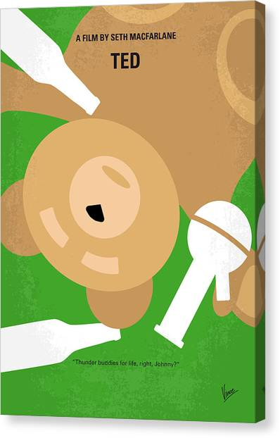 Teddy Bears Canvas Print - No519 My Ted Minimal Movie Poster by Chungkong Art