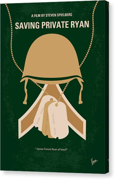 Design Canvas Print - No520 My Saving Private Ryan Minimal Movie Poster by Chungkong Art
