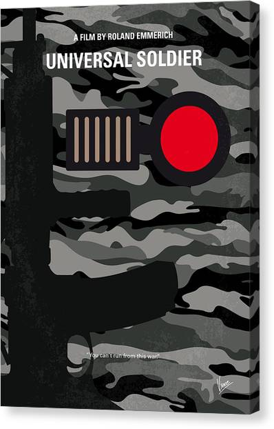 Soldiers Canvas Print - No523 My Universal Soldier Minimal Movie Poster by Chungkong Art