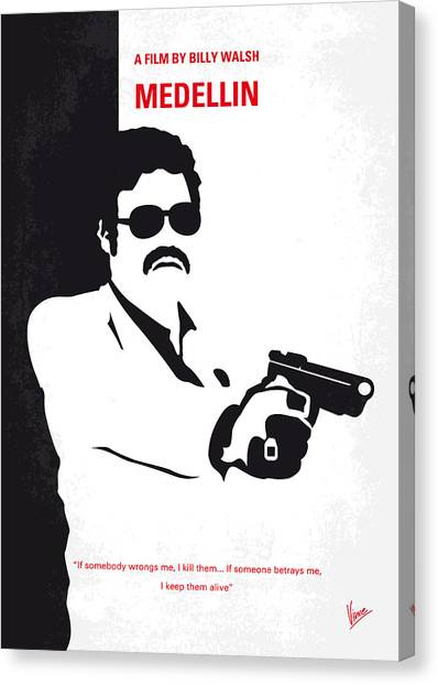 Scarface Canvas Print - No526 My Medellin Minimal Movie Poster by Chungkong Art