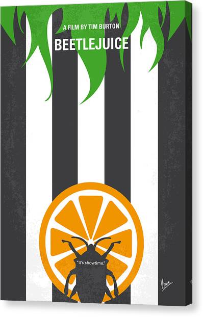 Snowboarding Canvas Print - No531 My Beetlejuice Minimal Movie Poster by Chungkong Art