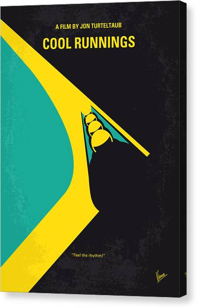 Running Canvas Print - No538 My Cool Runnings Minimal Movie Poster by Chungkong Art