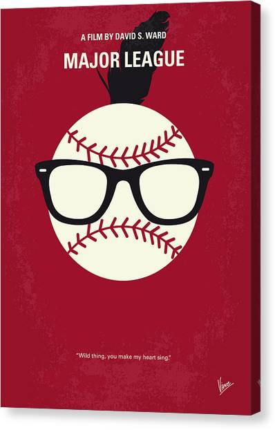 Indians Canvas Print - No541 My Major League Minimal Movie Poster by Chungkong Art