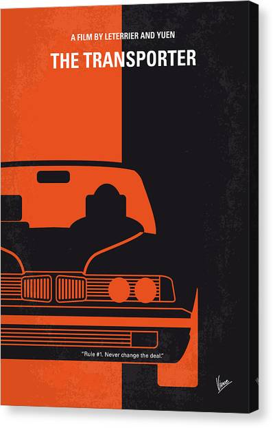Special Forces Canvas Print - No552 My The Transporter Minimal Movie Poster by Chungkong Art