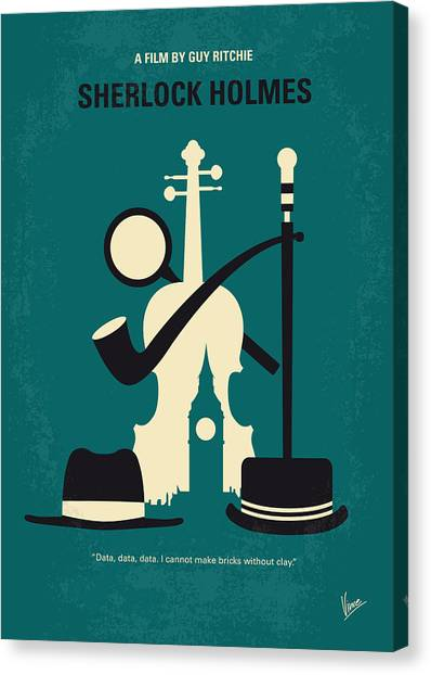 Law Canvas Print - No555 My Sherlock Holmes Minimal Movie Poster by Chungkong Art
