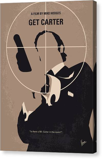 Sylvester Stallone Canvas Print - No557 My Get Carter Minimal Movie Poster by Chungkong Art